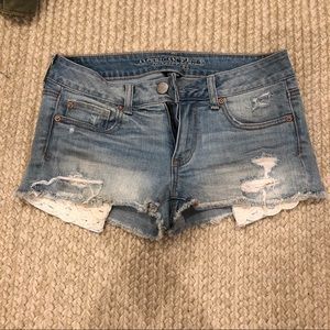 American Eagle mid rise denim shorts
